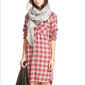 Madewell Flannel Dress NWT